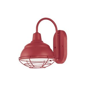 "Millennium Lighting R Series 1 Light Wall Bracket, Satin Red, 11.75"" - RWHWB8-SR"
