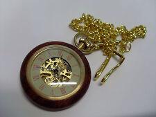 montre à gousset bois