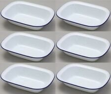 Falcon Enamel Oblong Pie Baking Dish Tin 16cm