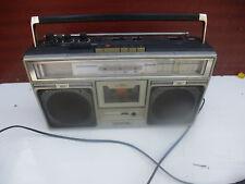 Rradio Kassetten Recorder Gettoblaster JVC CONDENSER MIC Siehe Fotos