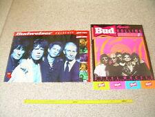 2 BUDWEISER ROLLING STONES  POSTERS '89 steel wheels & '94 voodoo lounge