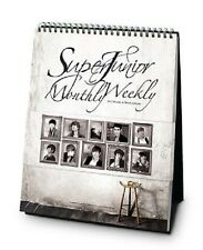 SUPER JUNIOR SuperJunior 2012 SM OFFICIAL Monthly & Weekly DESK CALENDAR NEW