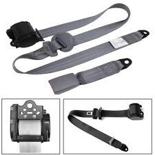 High Quality Gray Retractable 3 Point Car Safety Seat Belt Lap&Diagonal Belt Kit