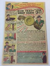 1947 DICK TRACY cartoon ad page ~ Two Way Wrist Radio