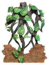 Sucker mounted rock & vine fond terrarium vivarium ornement décoration