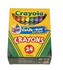 Original Crayola Nontoxic 52-3024 Crayons Preferred By Teachers 24 Count