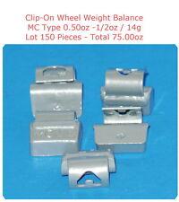 150 Pcs ZN CLIP-ON Wheel Weight Balance MC Type 0.50oz 1/2oz Total 75.00oz