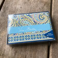 Vera Bradley Retired Notecards NEW NIB Capri Blue Set of 10 Rare HTF Paisley