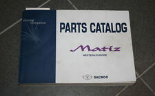 Daewoo Matiz Catalogo ricambi Parti catalogo 04/2003 con Disegni di esplosione