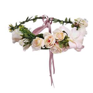 Flower Crown Garland Floral Bridal Headband Hairband Wedding Vine Hair Band
