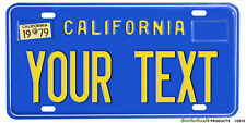 California Customize with Your Text Aluminum License plate