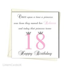 Personalised Girl Daughter Granddaughter 10th 13th 16th 18th 21st Birthday Card