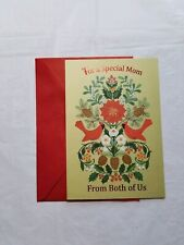 Christmas Card For Mom From Both Of Us 8 x 5 1/2 Inch Hallmark Expressions