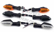Front Rear LED Turn Signal Indicator Lights For Kawasaki Z125 Z250 Z300 Z750R
