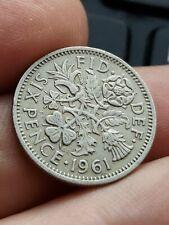 1961 Elizabeth II Sixpence 6 pence six Coin Kayihan coins T8