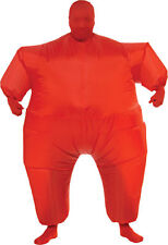 Inflatable Skin Suit Adult Red Color Party Fancy Dress Halloween Costume Rubies