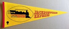 JACKSONVILLE EXPRESS WFL 1975 INAUGURAL SEASON PENNANT WORLD FOOTBALL LEAGUE NRM