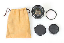 Minolta Rokkor 50mm f1.4 MD Mount Lens w/ Skylight Filter, F+R Caps, and Pouch