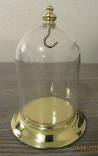 Pocket Watch Keepsake Display Glass Dome with Polished Brass Base