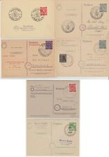 Deutschland - 1946-1948, kleiner Bestand von sechs gest. Belegen - bitte ansehen