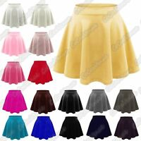 New Kids Girl Flippy Flared High Waistband Plain Stretch Short Mini Skater Skirt