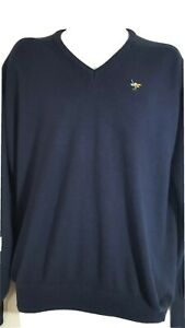 Vintage Fore Golf Sweater Men Sz L Blue Pullover Soft Acrylic Long Sleeve 5957