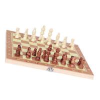 3 In 1 Holz Internationales Schachspiel mit faltbarem Schachbrett Schachfiguren