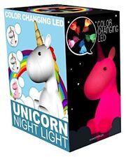 Unicornio luz de noche LED que cambia de color Lámpara de estado de ánimo Arco Iris Para Dormir Relax Chill