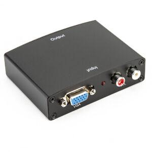 Audio R/L to HDMI TV PC Video to HDMI  +Converter  Analog Converter