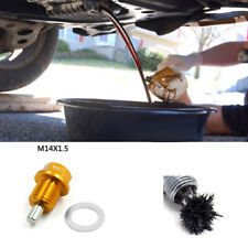 Anodized Magnetic Oil Change Pan Drain Plug Bolt Washer M14 X 1.5 Gold For Honda