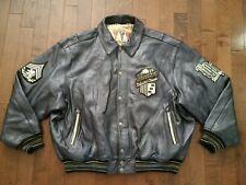 Avirex Varsity Leather Jacket AVC 6XL New York University Club - Broken Zipper
