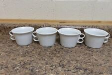 4 - vtg Bennington Potters White Agate Large Double Trigger Coffee Mug David Gil