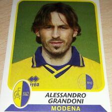 AGGIORNAMENTO FIGURINE CALCIATORI PANINI 2003/04 MODENA GRANDONI ALBUM