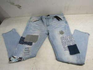 Amiri Women's US 40 Patchwork Jeans -Denim