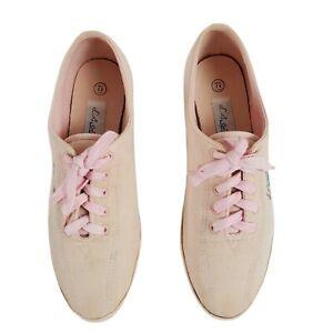 LA Gear Vintage Pink Canvas 7.5 Lace Up Womens Shoes Cheer Dance 90s Street Wear