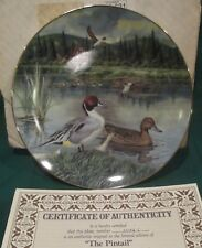 Pintail Duck Collectors Plate by Knowles. New in box with certificate