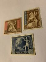 Germany WWII Hitler  Mi820-2 Sc #B209-11 1942 Reich Vienna Horse Axis Powers MNH