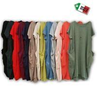Women Ladies Printed Short Sleeve Italian Lagenlook Pocket Baggy Midi Dress
