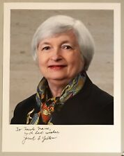 JANET YELLEN, FEDERAL RESERVE CHAIRWOMAN, 100% AUTHENTIC AUTOGRAPHED PHOTO