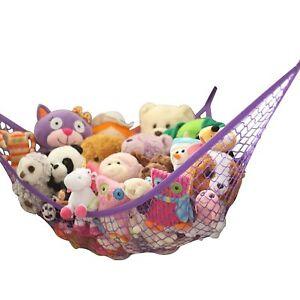 New XL Storage Hammock Stuffed Toys Organizer -Fits 30-40 Plush Animals Purple