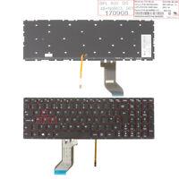 New Keyboard for Lenovo Ideapad Y700-15 BLACK (Red side,Backlit,WIN8) UK
