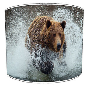 Kids Grizzly Brown Bear Lampshades, Ideal To Match Bedding Duvet Cushion Covers