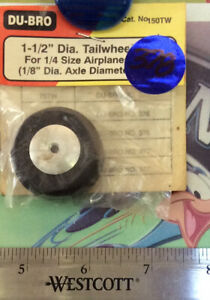 "Vintage Dubro Tailwheel 1-1/2 Dia. For 1/8"" Airplane 150TW Orignal NewOldStock"