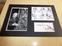Walt Disney & Mickey Mouse mounted photographs & preprint signed autograph card