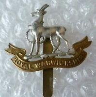 Badge- Royal Warwickshire Regiment Cap Badge (Bi-Metal)