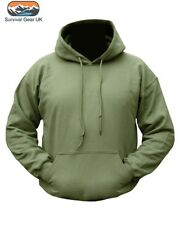 Pre Shrunk Mens Military Hoodie Olive Green Camouflage Army Hooded Top S-2XL