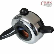 """WIPAC S3857 CHROME DUCON DIP / HORN SWITCH IDEAL FOR 7/8"""" HANDLE BARS"""