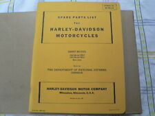 HARLEY-DAVIDSON ARMY MODELS 1942 AND 1943 WLC SOLO ONLY SPARE PARTS LIST BIKE