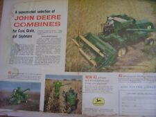Vintage John Deere Advertising Sheet -# 40 42 45 Combines -1961