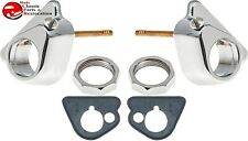 55-59 Chevy Gmc Pickup Truck Windshield Wiper Tower Bezel Nut and Gasket Set (Fits: Truck)